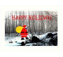 HAPPY HOLIDAYS 45 Art Print