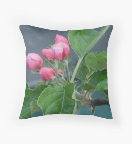 Blossom buds Throw Pillow