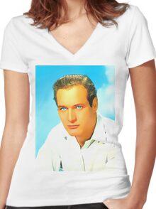 Paul Newman Women's Fitted V-Neck T-Shirt