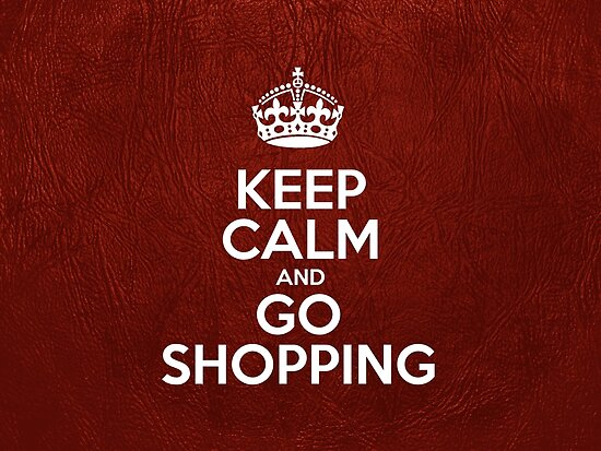 Keep Calm and Go Shopping - Glossy Red Leather by sitnica