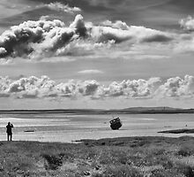 Man and boat by WMEPHOTO