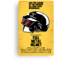 Full Metal Helmet Canvas Print
