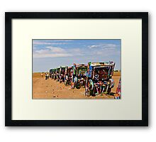 Cadillac Ranch, Amarillo, Texas Framed Print