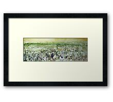 River valley meadow Framed Print