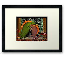 Monsters dancing in the privacy of their room by Valxart.com Framed Print