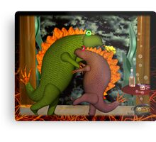 Monsters dancing in the privacy of their room by Valxart.com Metal Print