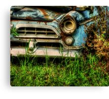 HDR Abandoned Car nature reclamation, rustic, rural decay photography Canvas Print
