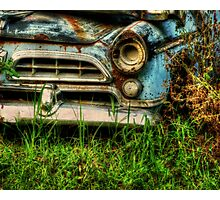HDR Abandoned Car nature reclamation, rustic, rural decay photography Photographic Print