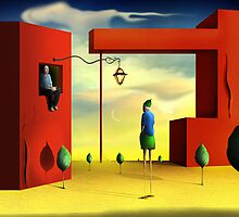 Homem na Janela. by Marcel Caram