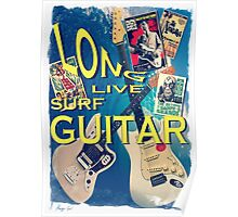 LONG LIVE SURF GUITAR Poster