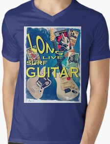 LONG LIVE SURF GUITAR Mens V-Neck T-Shirt