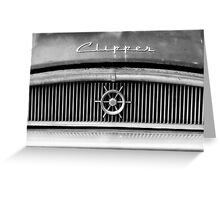 Packard Clipper old, vintage, abandoned car photography Greeting Card