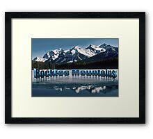 Rockies Mountains  Bunff National park Canada Framed Print