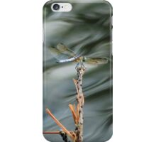 Dragonfly On Abstract Pond iPhone Case/Skin