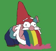 Gnome puking happiness - Gravity Falls by james0scott