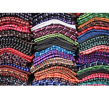 Piles of Handmade Scarves Photographic Print
