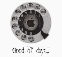 Traditional rotary telephone dial. Apple. by Val Goretsky