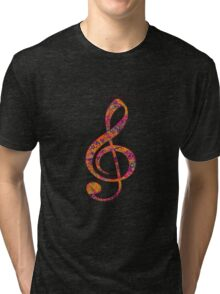 Psychedelic Music note 4 Tri-blend T-Shirt