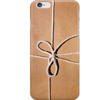 Brown paper package tied with string iPhone Case/Skin