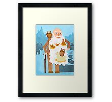 Old Man with Bird Nest Beard Framed Print