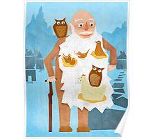 Old Man with Bird Nest Beard Poster