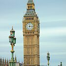 The big Ben thru Lamps on Westminster Bridge London. by Arvind Singh