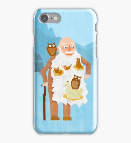 Old Man with Bird Nest Beard iPhone Case/Skin