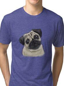 Pug Portrait Tri-blend T-Shirt