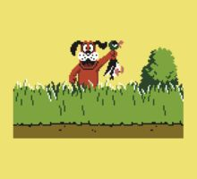 Duck Hunt Dog with Duck One Piece - Short Sleeve