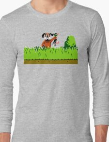 Duck Hunt Dog with Duck Long Sleeve T-Shirt