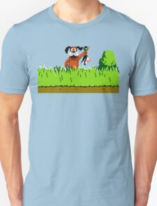 Duck Hunt Dog with Duck Unisex T-Shirt