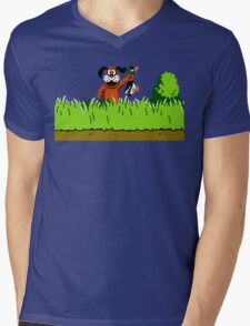 Duck Hunt Dog with Duck Mens V-Neck T-Shirt