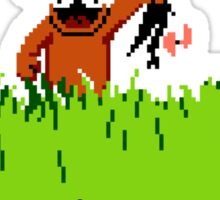 Duck Hunt Dog with Duck Sticker