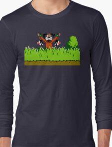 Duck Hunt Dog with 2 Ducks Long Sleeve T-Shirt