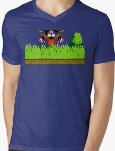 Duck Hunt Dog with 2 Ducks Mens V-Neck T-Shirt
