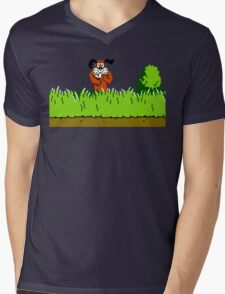 Duck Hunt Dog laughing Mens V-Neck T-Shirt