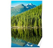 Mountain Lake Reflections Poster