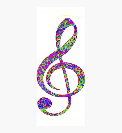 Psychedelic Music note 3 Photographic Print