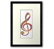 Psychedelic Music note 2 Framed Print