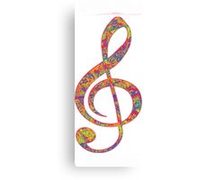 Psychedelic Music note 2 Canvas Print