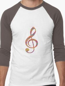 Psychedelic Music note 2 Men's Baseball ¾ T-Shirt
