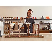 Barista Preparing Gourmet Filter Coffee Photographic Print