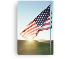 United States of America Flag Canvas Print