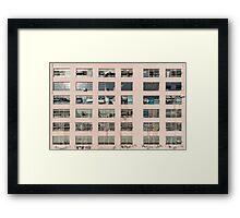 Factory Facade Framed Print