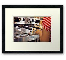 Barista Extracting a Shot of Espresso Framed Print