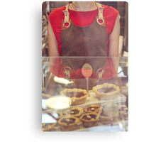 Young Woman Selling Cupcakes Metal Print