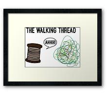 The Walking Thread Framed Print