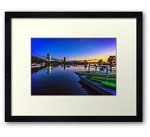 Green Kayaks Framed Print