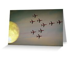 Fly Past Greeting Card