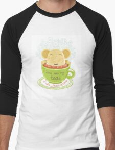 Tea and Cookie - Rondy the Elephant Men's Baseball ¾ T-Shirt